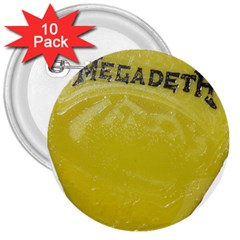 Megadeth Heavy Metal 3  Buttons (10 Pack)  by Photozrus