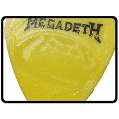 Megadeth Heavy Metal Fleece Blanket (large)  by Photozrus