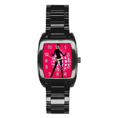 Sexy Lady Stainless Steel Barrel Watch by Photozrus