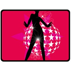 Sexy Lady Double Sided Fleece Blanket (large)  by Photozrus