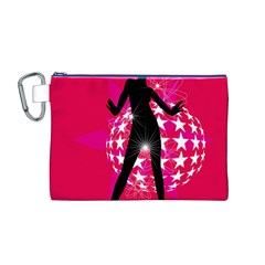 Sexy Lady Canvas Cosmetic Bag (m) by Photozrus