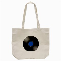 Vinyl Record Tote Bag (cream) by Photozrus