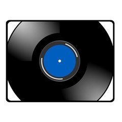 Vinyl Record Double Sided Fleece Blanket (small)  by Photozrus