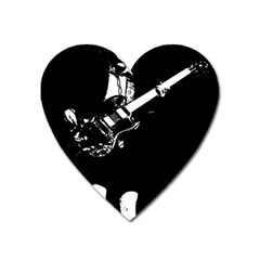Angus Young  Heart Magnet by Photozrus