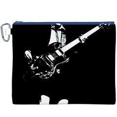 Angus Young  Canvas Cosmetic Bag (xxxl) by Photozrus