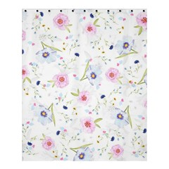 Floral Cute Girly Pattern Shower Curtain 60  X 72  (medium)  by paulaoliveiradesign
