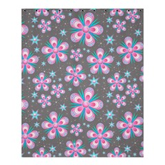 Seamless Pattern Purple Girly Floral Pattern Shower Curtain 60  X 72  (medium)  by paulaoliveiradesign