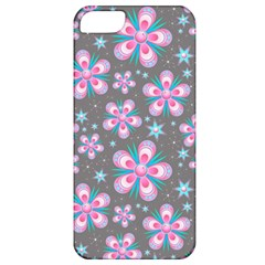 Seamless Pattern Purple Girly Floral Pattern Apple Iphone 5 Classic Hardshell Case by paulaoliveiradesign
