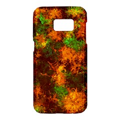 Squiggly Abstract F Samsung Galaxy S7 Hardshell Case  by MoreColorsinLife