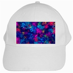 Squiggly Abstract E White Cap by MoreColorsinLife