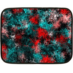 Squiggly Abstract D Fleece Blanket (mini) by MoreColorsinLife