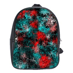 Squiggly Abstract D School Bag (xl) by MoreColorsinLife