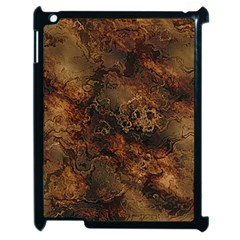 Wonderful Marbled Structure A Apple Ipad 2 Case (black) by MoreColorsinLife