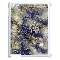 Wonderful Marbled Structure D Apple Ipad 2 Case (white) by MoreColorsinLife