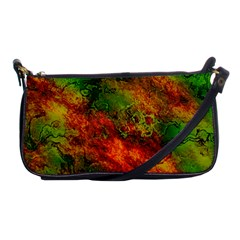 Wonderful Marbled Structure F Shoulder Clutch Bags by MoreColorsinLife