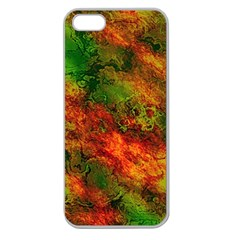 Wonderful Marbled Structure F Apple Seamless Iphone 5 Case (clear) by MoreColorsinLife