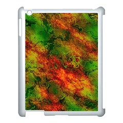 Wonderful Marbled Structure F Apple Ipad 3/4 Case (white) by MoreColorsinLife