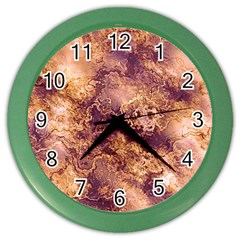 Wonderful Marbled Structure I Color Wall Clocks by MoreColorsinLife