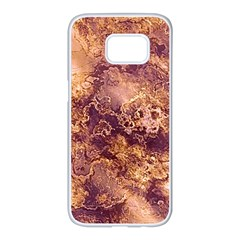 Wonderful Marbled Structure I Samsung Galaxy S7 Edge White Seamless Case by MoreColorsinLife
