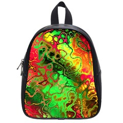 Awesome Fractal 35i School Bag (small) by MoreColorsinLife