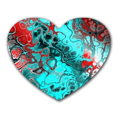 Awesome Fractal 35g Heart Mousepads by MoreColorsinLife