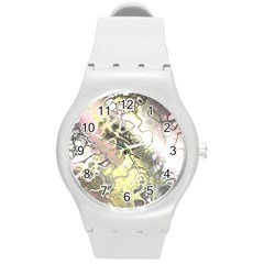 Awesome Fractal 35h Round Plastic Sport Watch (m) by MoreColorsinLife