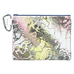 Awesome Fractal 35h Canvas Cosmetic Bag (xxl) by MoreColorsinLife