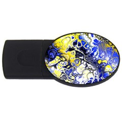 Awesome Fractal 35a Usb Flash Drive Oval (2 Gb) by MoreColorsinLife