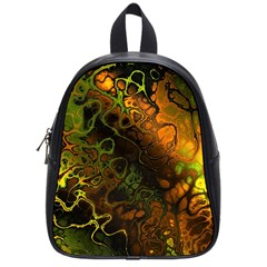 Awesome Fractal 35e School Bag (small) by MoreColorsinLife