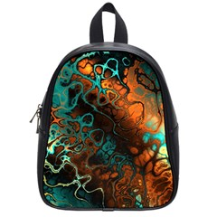 Awesome Fractal 35f School Bag (small) by MoreColorsinLife