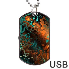 Awesome Fractal 35f Dog Tag Usb Flash (two Sides) by MoreColorsinLife