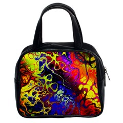 Awesome Fractal 35c Classic Handbags (2 Sides) by MoreColorsinLife