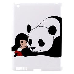 Girl And Panda Apple Ipad 3/4 Hardshell Case (compatible With Smart Cover) by Valentinaart