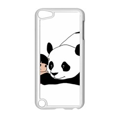 Girl And Panda Apple Ipod Touch 5 Case (white) by Valentinaart