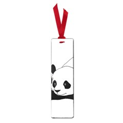 Girl And Panda Small Book Marks by Valentinaart