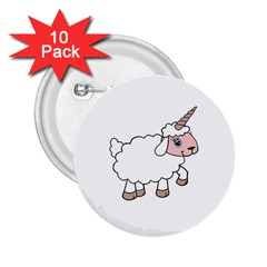 Unicorn Sheep 2 25  Buttons (10 Pack)  by Valentinaart