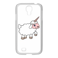 Unicorn Sheep Samsung Galaxy S4 I9500/ I9505 Case (white) by Valentinaart