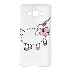 Unicorn Sheep Samsung Galaxy A5 Hardshell Case  by Valentinaart