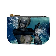 The Wonderful Water Fairy With Water Wings Mini Coin Purses by FantasyWorld7