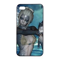 The Wonderful Water Fairy With Water Wings Apple Iphone 4/4s Seamless Case (black) by FantasyWorld7