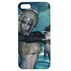 The Wonderful Water Fairy With Water Wings Apple Iphone 5 Hardshell Case With Stand by FantasyWorld7