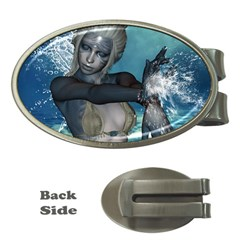 The Wonderful Water Fairy With Water Wings Money Clips (oval)  by FantasyWorld7