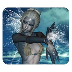 The Wonderful Water Fairy With Water Wings Double Sided Flano Blanket (small)  by FantasyWorld7