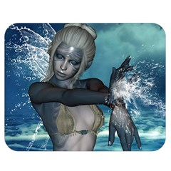 The Wonderful Water Fairy With Water Wings Double Sided Flano Blanket (medium)  by FantasyWorld7