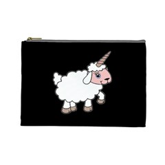 Unicorn Sheep Cosmetic Bag (large)  by Valentinaart
