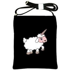 Unicorn Sheep Shoulder Sling Bags by Valentinaart