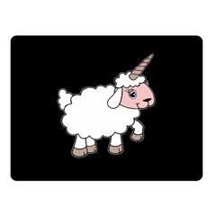 Unicorn Sheep Fleece Blanket (small) by Valentinaart