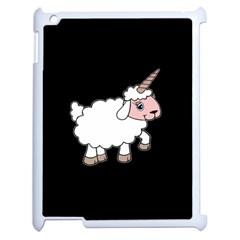 Unicorn Sheep Apple Ipad 2 Case (white) by Valentinaart