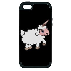 Unicorn Sheep Apple Iphone 5 Hardshell Case (pc+silicone) by Valentinaart