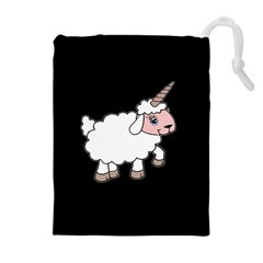 Unicorn Sheep Drawstring Pouches (extra Large) by Valentinaart